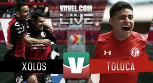 Resultados y goles del partido Xolos Tijuana 1-0 Toluca en Liga MX 2018
