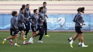 El Málaga vuelve a los entrenamientos con la mente puesta en el Getafe