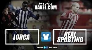 Previa Lorca FC - Real Sporting de Gijón: duelo de urgencias en el Artés Carrasco