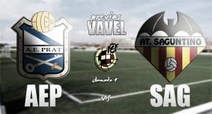 Previa AE Prat - Atlético Saguntino: el fortín en liga ha de ser inexpugnable