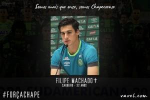 Filipe Machado: líder da Chapecoense e exemplo para os mais jovens