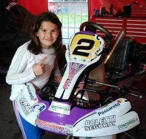 Pelo Brasileiro de Kart, Antonella Bassani crava a pole position na categoria Cadete