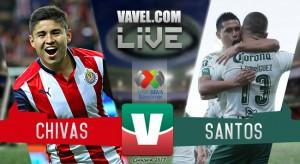 Chivas le saca el empate a Santos sobre la hora