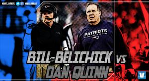 Old School x New Age: o duelo entreBill Belichick e Dan Quinn