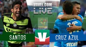 Resultado y goles del Santos vs Cruz Azul en cuartos Copa MX 2017 (1-3)