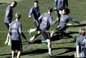 Entrenamiento del Madrid con la vista puesta en Cardiff