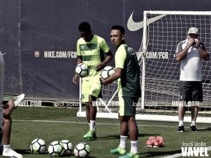 El Chapecoense ya entrena en Barcelona