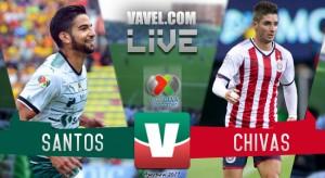 Resultado y goles del Santos 1-1 Chivas en Liga MX 2017