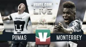 Resultado y goles del Pumas 1-1 Monterrey de la Copa MX 2017
