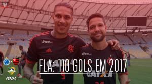Flamengo ultrapassa os 110 gols em 2017 e tem segunda melhor temporada artilheira no século