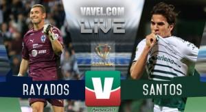 Resultado y goles del Rayados vs Santos en Copa MX (4-1)