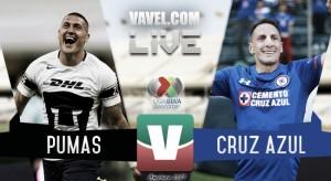 Resultado y goles del Pumas (1-4) Cruz Azul