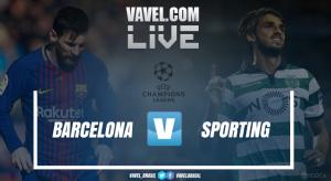 Resultado Barcelona x Sporting pela Uefa Champions League 2017/18 (2-0)
