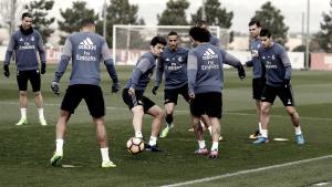 Último entrenamiento del Madrid antes de enfrentarse a Las Palmas