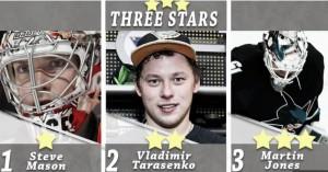 Las tres estrellas de la semana en la NHL: Mason, Tarasenko y Jones