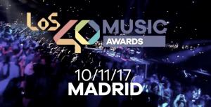 El próximo 10 de noviembre tendrá lugar la 12ª edición de los 40 Music Awards 2017