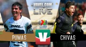 Resultados y goles del Pumas 1-1 Chivas de la Liga MX