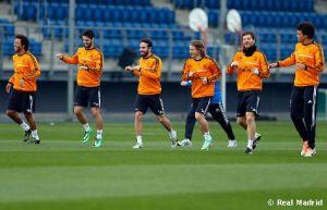 Cristiano Ronaldo y Sergio Ramos, ausentes sobre el césped en la primera sesión de la semana