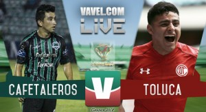 Resultado y goles del partido Cafetaleros 1-3 Toluca de la Copa MX 2018