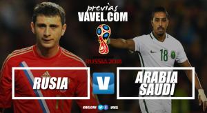 Previa Rusia vs Arabia Saudí: inicia el camino al sueño