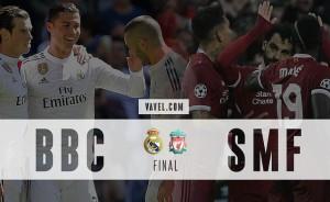 O auge do trio BBC no Real Madrid e a quebra da hegemonia ofensiva pelo SMF, do Liverpool
