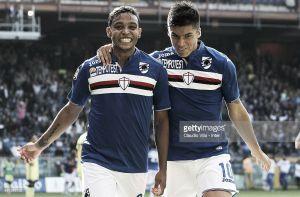 Con gol de Muriel, Sampdoria empató 1-1 ante el Inter de Murillo y Guarín