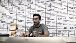 """Alberto Valentim reconhece irregularidade do Botafogo: """"Não conseguimos resultados"""""""