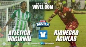 Previa Atlético Nacional vs Rionegro Águilas: Los 'verdes' por la clasificación y récord en el Atanasio