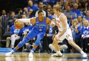 NBA - I 'big three' rispondono presente, Oklahoma asfalta i Knicks (105-84)