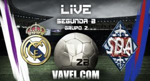 Resultado Real Madrid Castilla - Amorebieta en Segunda B 2015 (1-1)