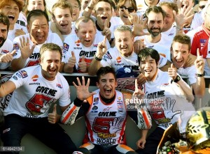 Triple success for Honda in Motegi as Marquez wins there for the 1st time claiming the 2016 MotoGP Championship in the process