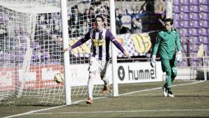 Primer gol de penalti de Óscar con el Real Valladolid
