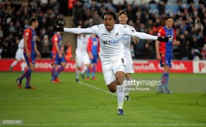 Swansea City 5-4 Crystal Palace: Nine-goal thriller gives Bradley first win as Swans boss