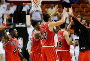 Bulls upset Heat in Game 1