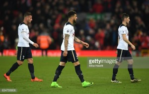 Liverpool 2-0 Tottenham Hotspur: Spurs' player ratings from lacklustre performance