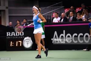 Fed Cup: Kristina Mladenovic levels tie with victory over Belinda Bencic