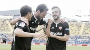 Sevilla sofre no fim, mas confirma favoritismo e derrota Las Palmas fora de casa
