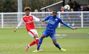 Leicester striker makes international debut