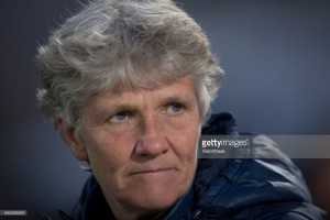 Swedish head coach Pia Sundhage upbeat after a mixed Algarve Cup