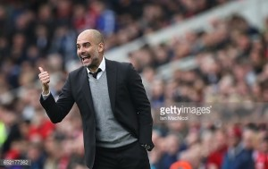 "Pep Guardiola ""delighted"" at Manchester City's progress into the FA Cup semi-finals"