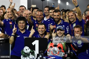Vinales on his maiden victory on his debut with Movistar Yamaha