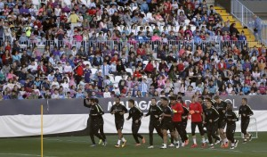 Los niños y niñas serán protagonistas en el Málaga - Espanyol