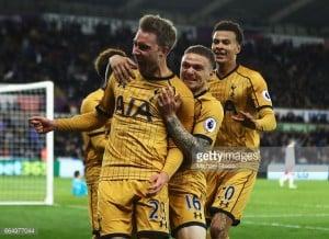 Swansea City 1-3 Tottenham Hotspur: Late Spurs surge sinks hapless Swans