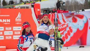 Falun 2015, 30 km tecnica classica femminile: Johaug stronca Bjoergen e Kalla