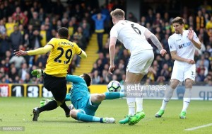 Watford 1-0 Swansea City: Hornets sting as Swans are unable to move out of relegation zone