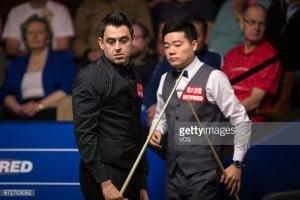 John Higgins and Ding Junhui move a step closer in Crucible quest