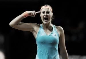 WTA Stuttgart: Kristina Mladenovic produces a massive comeback from a set down to beat Maria Sharapova in three