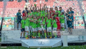 DFB Pokal-Frauen Final: SC Sand 1-2 VfL Wolfsburg: Frantic second-half sees Wolves complete the domestic double