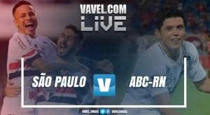 Resultado ABC x São Paulo na Copa do Brasil 2017 (1-1)