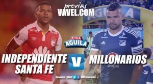 Previa: Santa Fe vs. Millonarios: Doblete Cardenal en el Campin